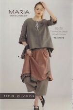 PATTERN - Maria Shirt & Crinkle Skirt - women's sewing PATTERN from Tina Givens