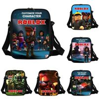 2019 Kids Boys Roblox Cartoon Insulated Lunch Picnic Bag School Travel Snack UK