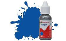 Humbrol Acrylic: No14 French Blue - Gloss 14ml Dropper Paint Bottle DB0014