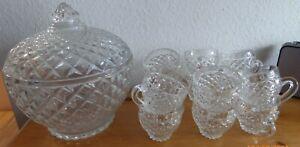 Bowle-Set Kristallglas mit 12 Gläsern