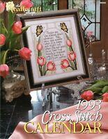 1993 Cross Stitch Calendar ~Needlecraft Shop~Out of Print OOP LikeNew