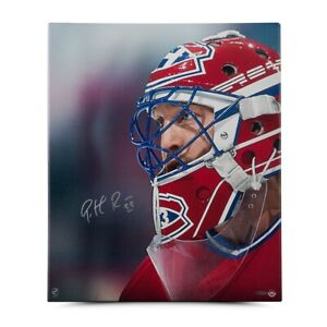 Patrick Roy Autographed 20X24 Wrapped Canvas Up Close and Personal Canadiens UDA