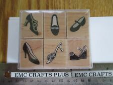 HERO ARTS ~ FANCY SHOES SET OF 6  RUBBER STAMPS LL785