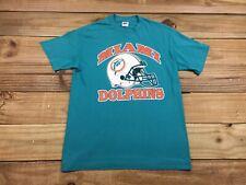 VTG 80's Trench Miami Dolphins Helmet Logo T-Shirt M 50/50 Football NFL