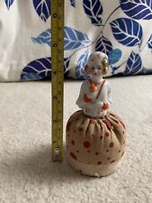 Pin Cushion Doll - Half Doll With Red And Tan Skirt