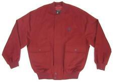 Paul & Shark Loro Piana Wool Cashmere Dark Red Harrington Bomber Jacket Size XL