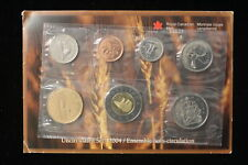 2004 Canada. 7 Coin Uncirculated RCM Set. Set, Card & Envelope.