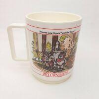 Vintage 1983 Deka STAR WARS RETURN OF THE JEDI Drinking Cup PRINCESS LEIA/EWOKS