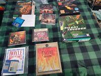 Lot of 8 retro floppy & CD Rom PC Video Games 1980s / 1990s