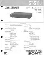 Sony Original Service Manual für ST-S 110