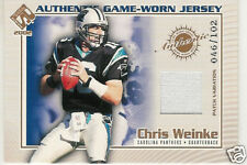 2002 PRIVATE STOCK GAME WORN JERSEYS PATCH CHRIS WEINKE