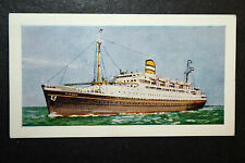 SS RYNDAM  Holland America Liner     Illustrated Colour Card