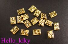 180Pcs Antiqued gold plt square spacer bead 7x5mm A78G