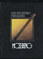 Vtg 1978 Mossberg Sporting Firearms Catalog Rifles Shotguns Hunting