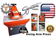 NEW!! CJRTec 27 Ton Swing Arm Clicker Press Hydraulic Die Cutting Machine