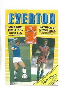 EVERTON V ASTON VILLA 15/12/1984 LEAGUE CUP SEMI-FINAL 1ST LEG  (Z)