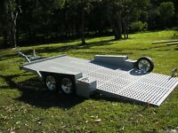 Race Car  - Full Floor Tandem - Punch Floor Trailer