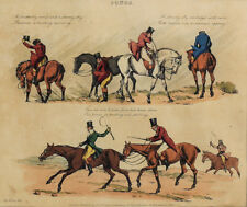 Henry Alken (British 1785-1851)  Colored Etchings to Popular Songs 1822