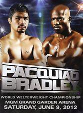 2012 Manny Pacquiao vs Timothy Bradley Boxing Porgram  EX/EX+