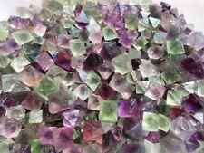 Wholesale 500g Natural Colorful Fluorite Crystal Octahedrons Rock Specimen.
