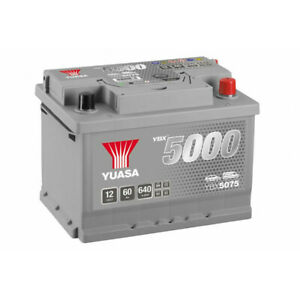 Batterie Yuasa Silver YBX5075 12v 60ah 640A Hautes performances