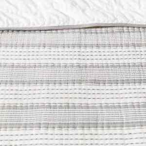 Hearth & Hand With Magnolia Woven Stripe Gray Quilt Size King BRAND NEW