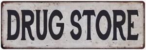 DRUG STORE Vintage Look Rustic Metal Sign Chic Retro 106180035074