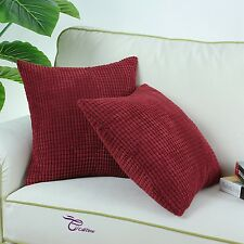 2pcs Teal Throw Pillow Covers Cases for Couch Sofa Home Decor Faux Linen 45x45cm