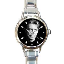DAVID BOWIE VINTAGE 1980'S Unique Round Silver Italian Charm Watch Bracelet