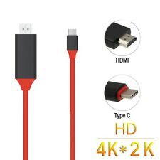 USB 3.1 Type C USB-C to 4K HDMI HDTV Cable For Samsung Galaxy S8 book Red O5K2