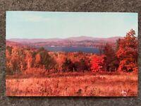 Birdseye view of Meredith Bay, Meredith, New Hampshire Vintage Postcard