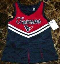 """NEW"" Houston Texans ~ CHEERLEADER Pleated UNIFORM Dress ~ NFL Child Size 12M"