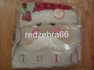 Pottery Barn Kids Santa Face Christmas Advent Calendar Countdown NEW