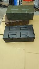 MILITARY AMMUNITION BOXES(choice of 3 colours in vgc ) GENUINE STOCK .you choose