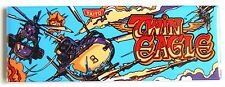 Twin Eagle Marquee FRIDGE MAGNET (1.5 x 4.5 inches) arcade video game helicopter