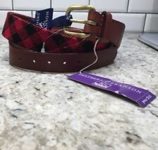 New! $165 36 Woolrich X Smathers & Branson Buffalo Check Plaid Needlepoint Belt