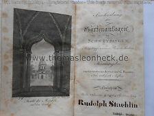 Zeyher Roemer: Beschreibung der Gartenanlagen zu Schwetzingen Rudolph Staehlin
