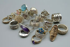 9935 Konvolut 24 Ringe 925 835 800 Silber Schmuck Farbsteine Design Modernist
