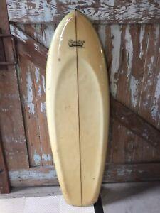 VINTAGE KNEEBOARD SURFBOARD CROZIER SEMI SPOON