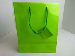 Gift Bags With Handles Light Green Tags
