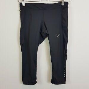 NIKE Womens Size XS or 8 Black 3/4 Capri Running Tights