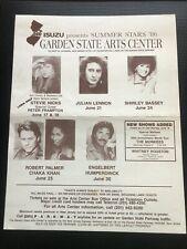 Garden State Arts Center 1986 Concert Flyer Stevie Nicks Frampton Robert Palmer
