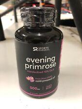 Sports Research Evening Primrose 10% GLA 500 mg Diet Supplement - 240 Softgels