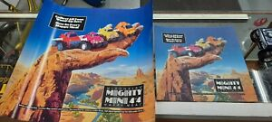 McDonald's Mighty Mini 4x4 Stomper Happy Meal Toy Translite Sign & Ad Poster