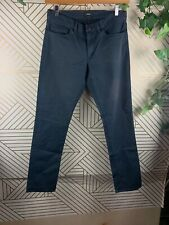 THEORY Mens Haydin Straight Slim Fit Navy Blue Size 32