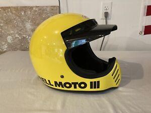 Bell Moto 3 III Motocross Helmet Size XL Yellow Motorcycle