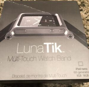 LunaTik Multi-Touch Black Watch Band for iPod Nano 6th generation  Open Box