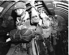 RAY WALLACE 82ND AIRBORNE 507 PIR D-DAY VETERAN & POW RARE SIGNED PHOTO