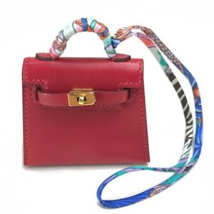 UnusedHERMES Y Mini pouch KellyTwilly Strap Bag accessories charm Tadelakt/silk