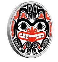 🇨🇦 Canada $20 Dollars Colored Silver Coin, Bill REID-Haida Grizzly Bear, 2020
